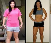 pred a po chudnuti